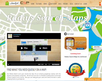 ZOO Radius Search-screen